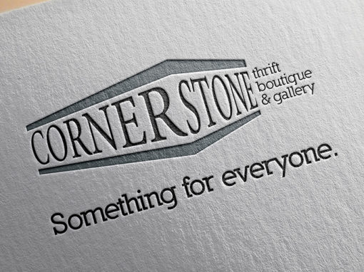 Cornerstone Thrift Boutique & Gallery Logo Design
