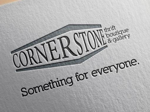 Cornerstone Thrift Boutique & Gallery Logo Design