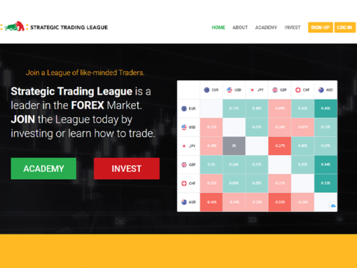 Strategic Trading League Website Design