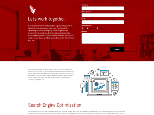 TYGE Consulting Website Design